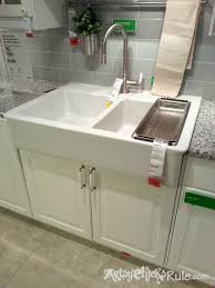 Small Farmhouse Sink Image Of Small Farm Sinks Ikea Kitchen - Apron sink with backsplash