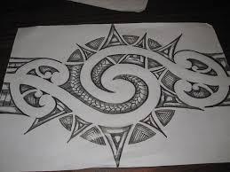 maori inspired tattoo design pencil sketch by tattooeddnbhead on