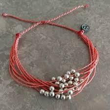 bead bracelet silver images Pura vida jewelry coral silver bead bracelet poshmark jpg