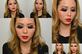 makeup look halloween with hard candy black swan inspired