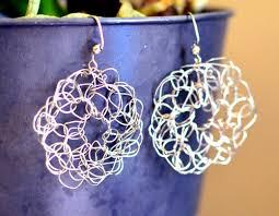 wire earrings crochet spot archive free crochet pattern circle wire