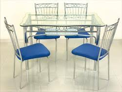 steel dining table set steel dining table at rs 12500 piece s ghatkopar mumbai id