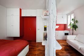40 sqm modern small apartment interior design idea with a walk in small apartment interior sqm apartment 25 sqm red white small apartment interior design home
