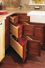 Three Drawer Base Cabinet Decora Cabinetry - Kitchen cabinets corner drawers