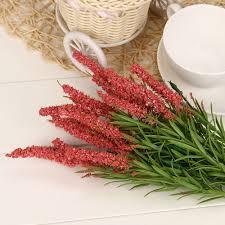wedding home decoration online shop artificial flowers 21 heads foam lavender bouquet