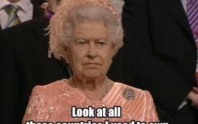 Meme Not Impressed - meme queen not impressed pedestrian tv
