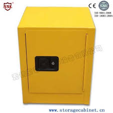 Yellow Flammable Storage Cabinet Stainless Steel Iron Coated Flammable Yellow Powder Chemical