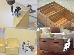 Diy Storage Ottoman Diy Wooden Crates Storage Ottoman Usefuldiy