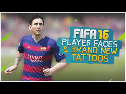 fifa 16 messi tattoo xbox 360 new player faces tattoos fifa 16 youtube