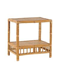 Wicker Accent Table Bungalow Side Table Tables Serena And Lily