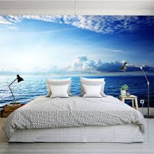 online buy wholesale nature wall murals from china nature wall blue sky seaside cloud diy nature wallpaper 3d wall mural rolls hotel restaurant cafe hall office