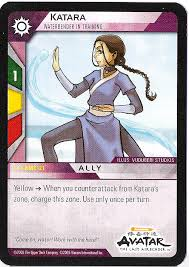 card katara waterbender training trade cards