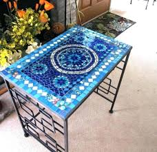 how to make a mosaic table top how to tile a tabletop tile table top design ideas wood videos wood