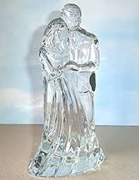 glass wedding cake toppers waterford groom wedding cake topper