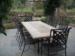 slate outdoor dining table granite top patio table inside stone top patio table decorating