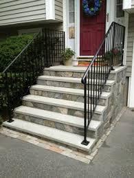concrete front steps with stone veneer u2026 pinteres u2026