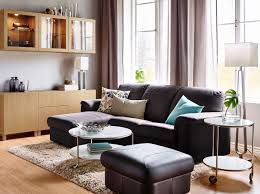 simple living room with best furniture leather black chairs and