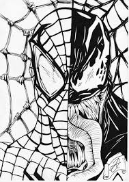 venom spiderman coloring page free download