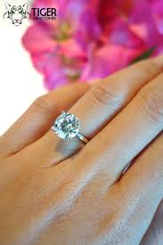 3 karat engagement ring 3 carat 4 prong solitaire engagement ring by tigergemstones