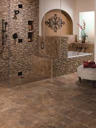 awesome excellent mosaic bathroom floor tile with black accent