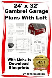 amazon com 24 u0027 x 32 u0027 x 10 u0027 gambrel garage plans with loft