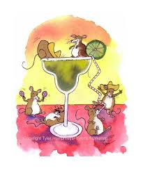 margarita illustration funny mouse watercolor card mouse art mice watercolor