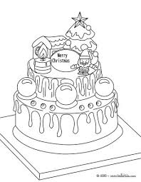 traditional xmas cake coloring pages hellokids