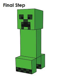 how to draw a creeper minecraft