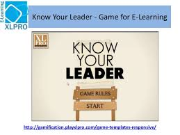 know your leader corporate e learning game template
