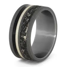 can titanium rings be engraved mimetic meteorite ring engraved titanium ring jewelry by johan