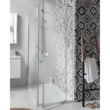 simpsons design hinged shower door with inline panel u0026 optional
