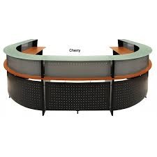 Oval Reception Desk U Shaped Glass Top 2 Person Reception Desk Free Freight