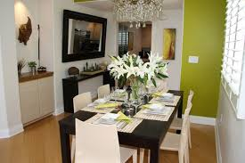 Mirrors In Dining Room How To Visually Enlarge Small Dining Room