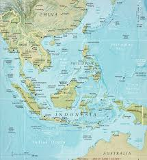 Asia Maps by Southeast Physical Asia Map Indonesia Malaysia Thailand