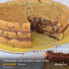 chocolate chip cookie layer cake
