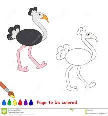 vector cartoon ostrich stock illustration image 59454303