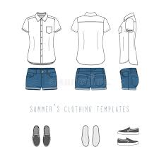clothing templates set stock vector image of fashion 90992056