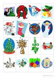 4 free esl christmas memory game worksheets