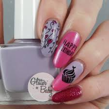 b nailed to perfection glitter baby nails swatches review and