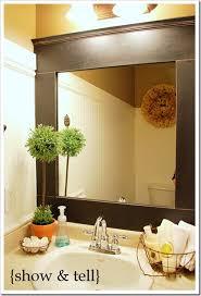 Framing Existing Bathroom Mirrors Updated Builder Mirror Guest Highlight Builder Grade Bathroom