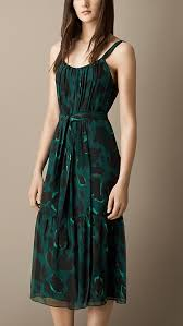 burberry teal green animal print silk dress a sleeveless silk