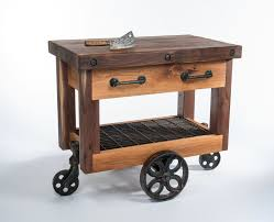 butcher block kitchen island cart crafted walnut and oak lineberry factory cart butcher s block