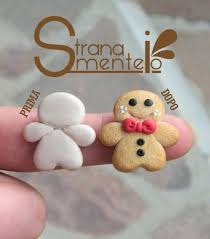 gingerbread man cookie charms fimo pinterest