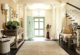 Kelly Green Door With Brass Hardware Interiors by Mint Green Door Transitional Entrance Foyer Hudson Interior