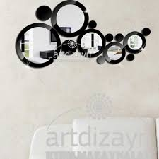 Circle Wall Mirrors Dekorative Wall Mirror And Black Circle Modern Design