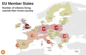 States Ive Been To Map by Which Eu Country Has The Most Citizens Living Abroad Metrocosm