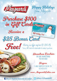 discount restaurant gift cards gift card promotion maynards restaurant rogers mn