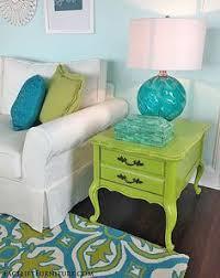 Aqua Table L Mixed Patterns In Shades Of Navy Aqua Green And Tans L Coastal