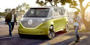 volkswagen concept van volkswagen unveils u0027id buzz u0027 electric microbus concept