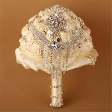 Wedding Flowers Dublin Artificial Wedding Bouquets Luxury Crystals Faire Part Mariage For